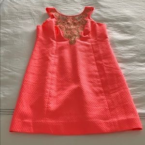 Coral Lilly Pulitzer shift dress